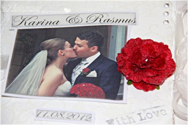 bryllupsvideokort forside detaljer