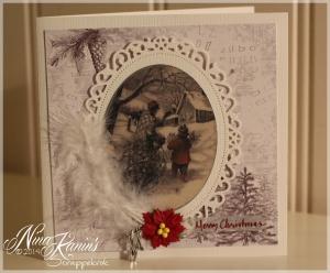 Kort nr 77 - Julekort 2013 vintage 2